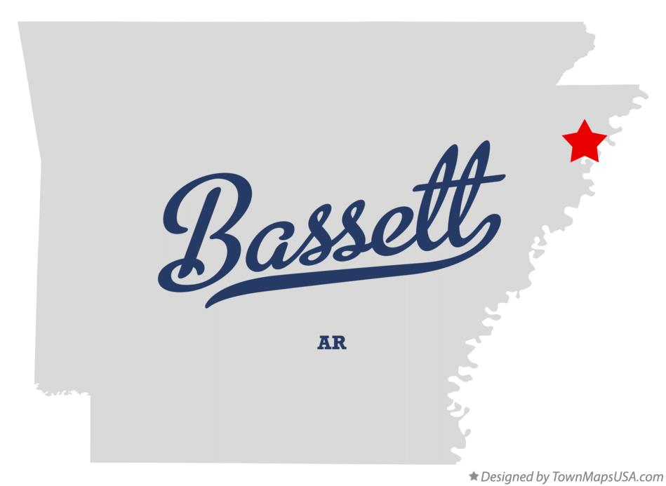 Map of Bassett Arkansas AR