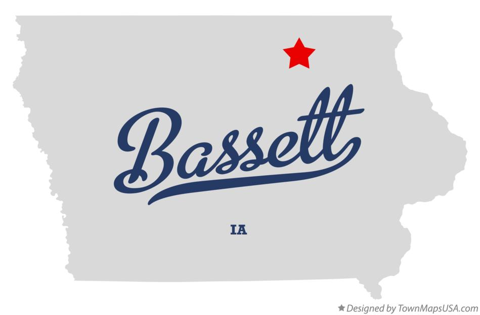 Map of Bassett Iowa IA