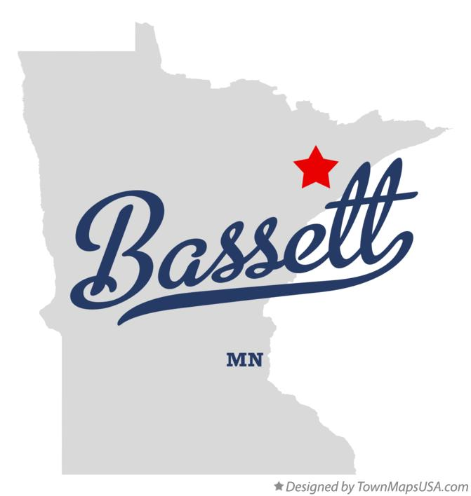 Map of Bassett Minnesota MN