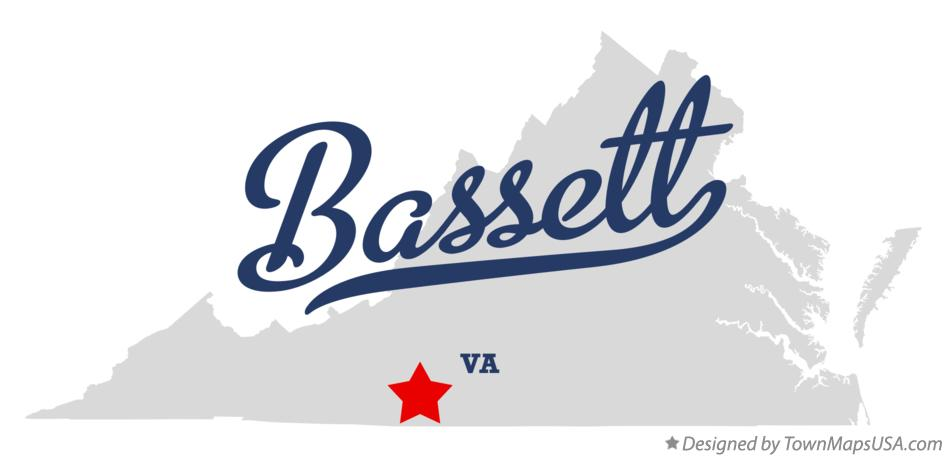 Map of Bassett Virginia VA