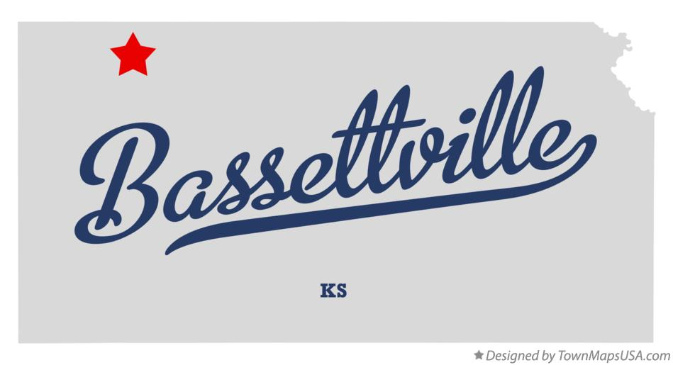 Map of Bassettville Kansas KS