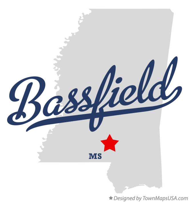 Map of Bassfield Mississippi MS
