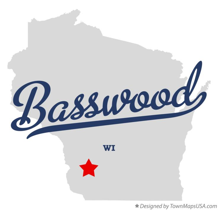 Map of Basswood Wisconsin WI