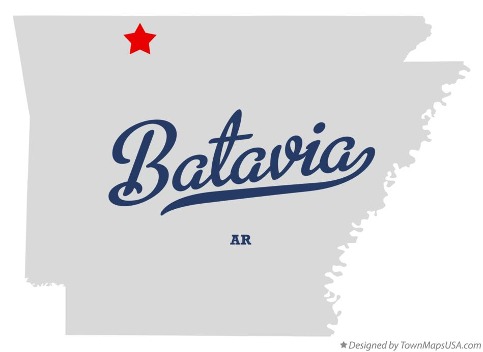 Map of Batavia Arkansas AR