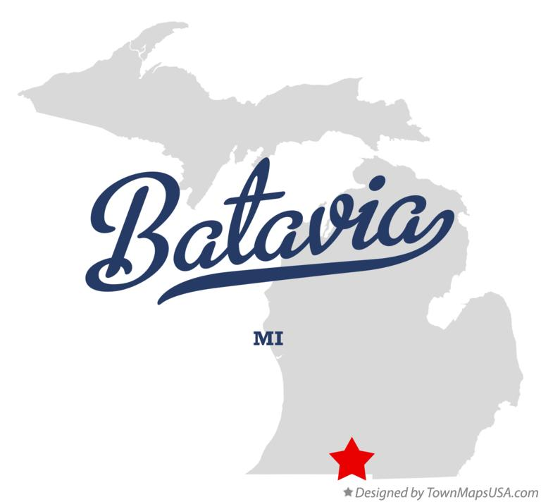 Map of Batavia Michigan MI