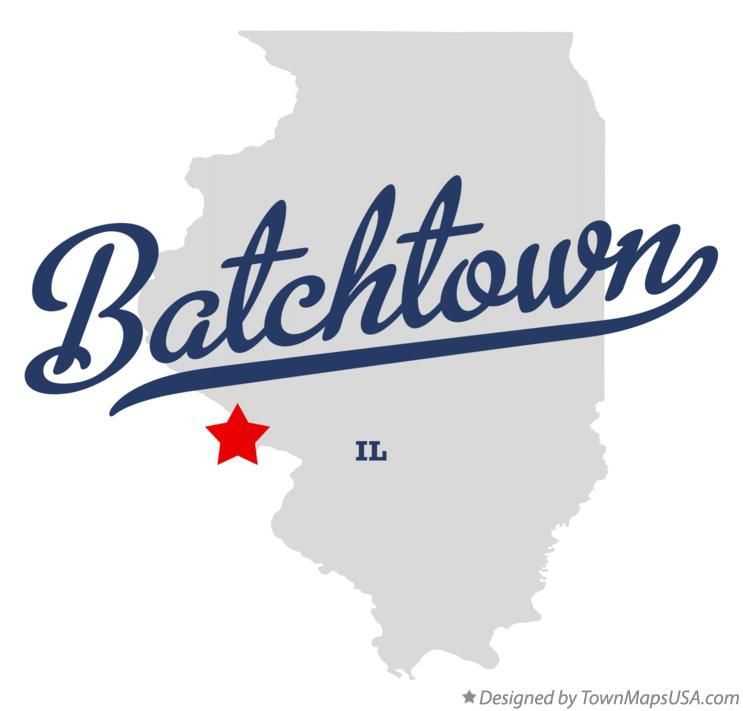 Map of Batchtown Illinois IL