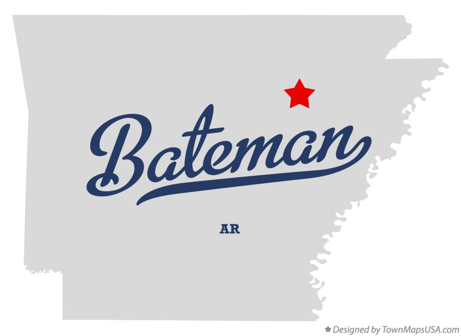 Map of Bateman Arkansas AR