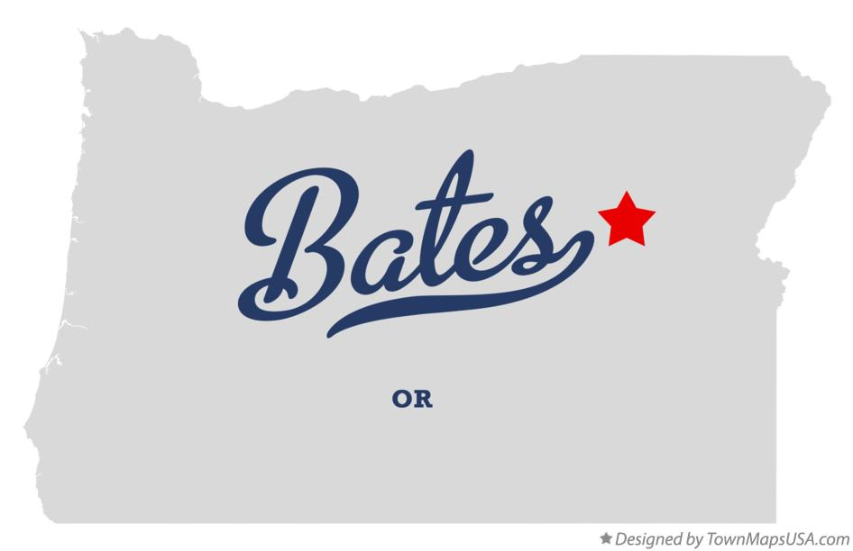 Map of Bates Oregon OR