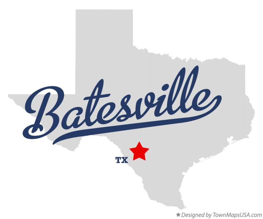 Map of Batesville Texas TX