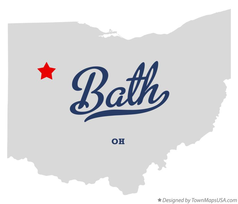 Map of Bath Ohio OH