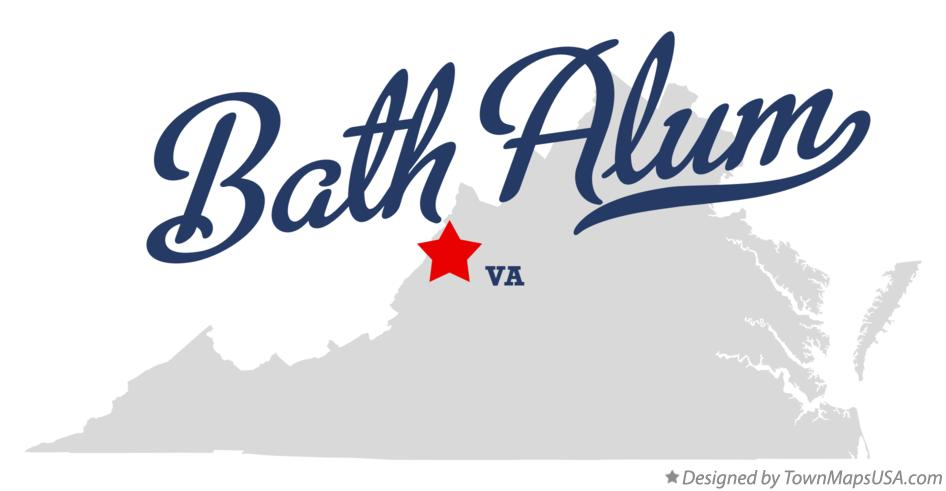 Map of Bath Alum Virginia VA