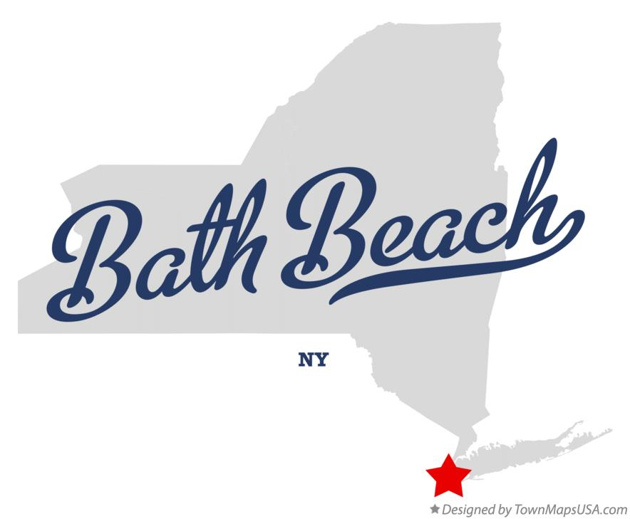 Map of Bath Beach New York NY