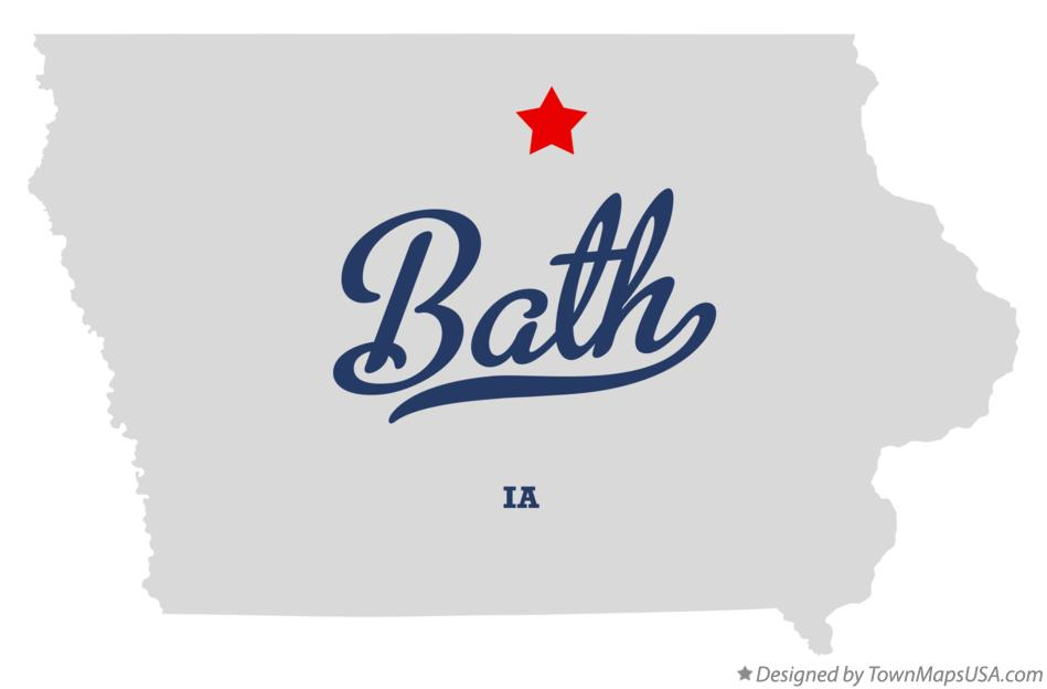 Map of Bath Iowa IA