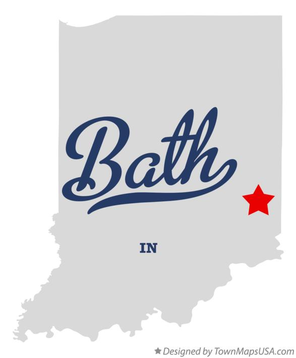 Map of Bath Indiana IN