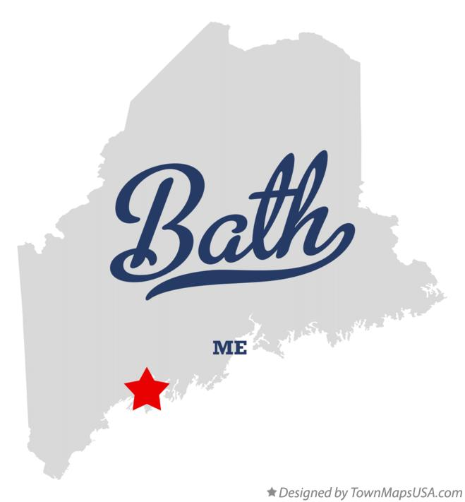 Map of Bath Maine ME