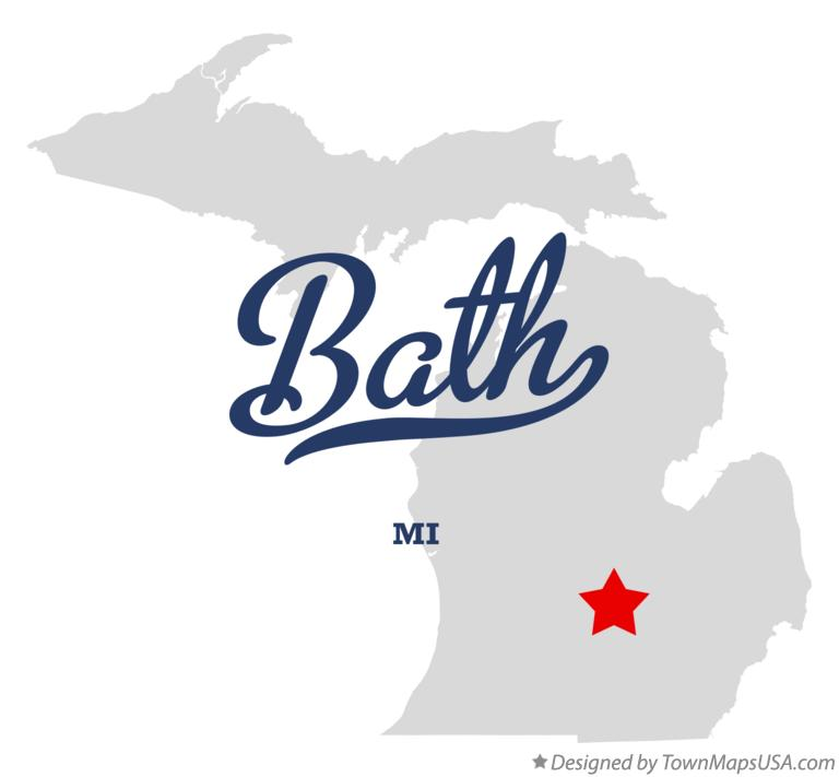 Map of Bath Michigan MI