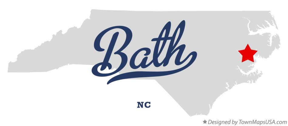 Map of Bath North Carolina NC