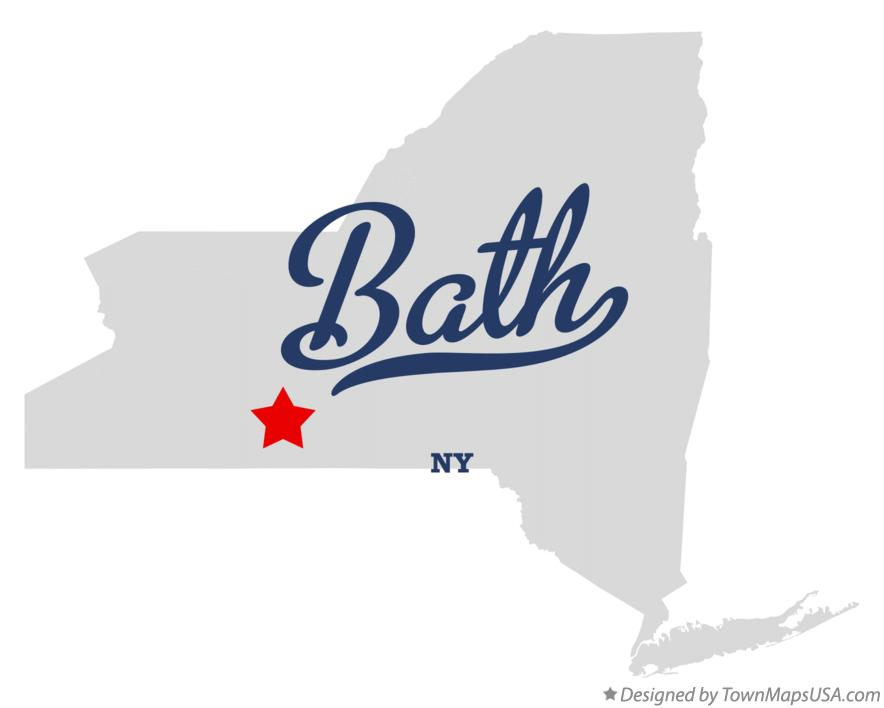 Map of Bath, NY, New York