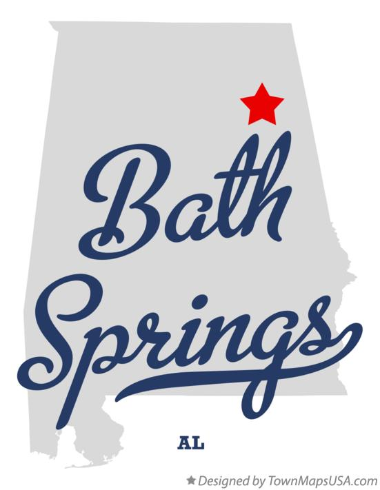 Map of Bath Springs Alabama AL