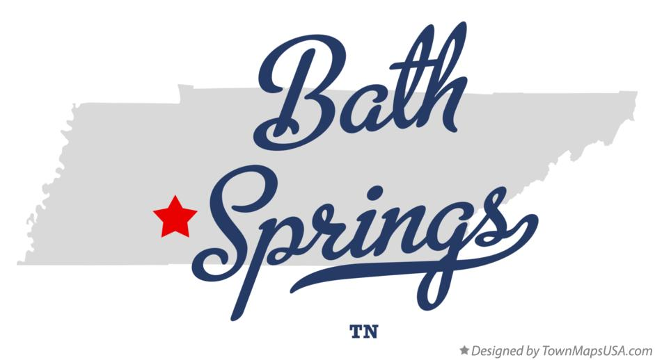 Map of Bath Springs Tennessee TN