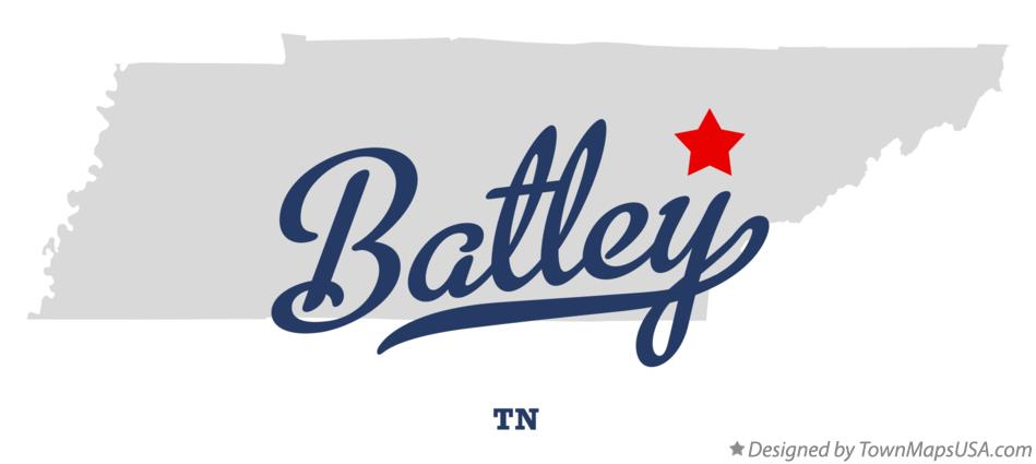 Map of Batley Tennessee TN