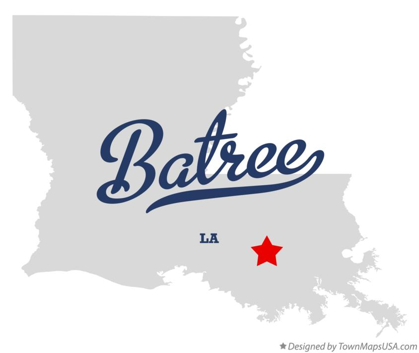 Map of Batree Louisiana LA