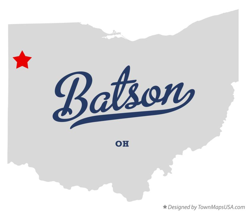 Map of Batson Ohio OH