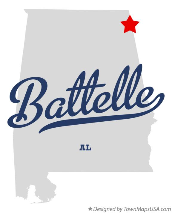 Map of Battelle Alabama AL