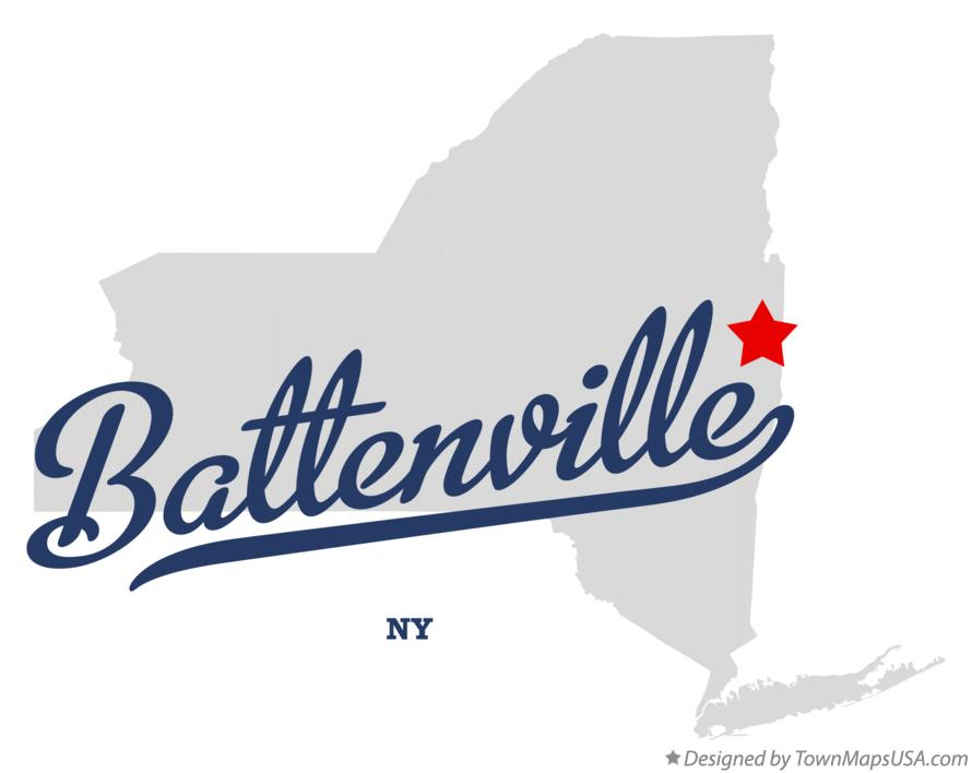 Map of Battenville New York NY