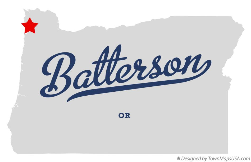 Map of Batterson Oregon OR
