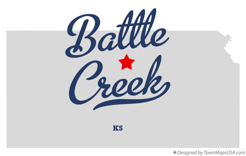 Map of Battle Creek Kansas KS