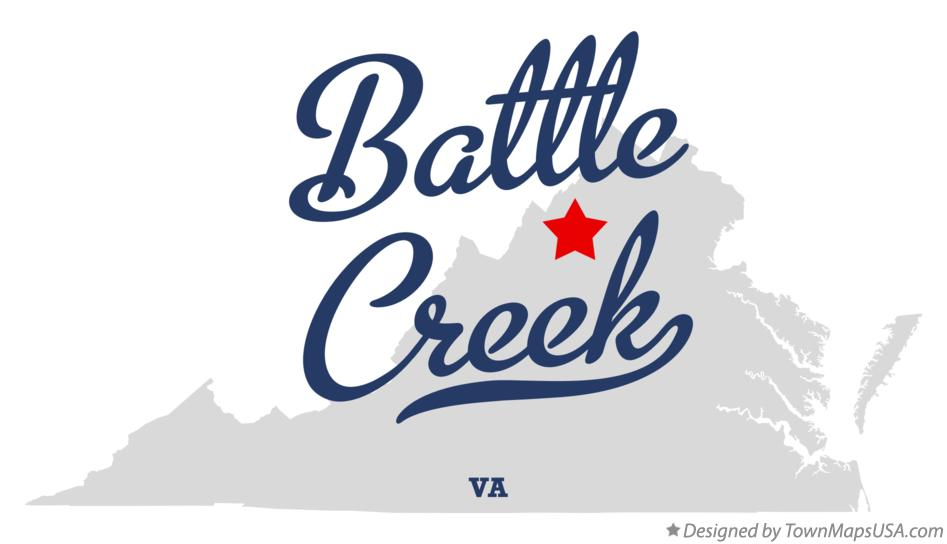 Map of Battle Creek Virginia VA