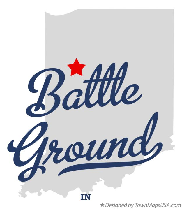 Map of Battle Ground Indiana IN