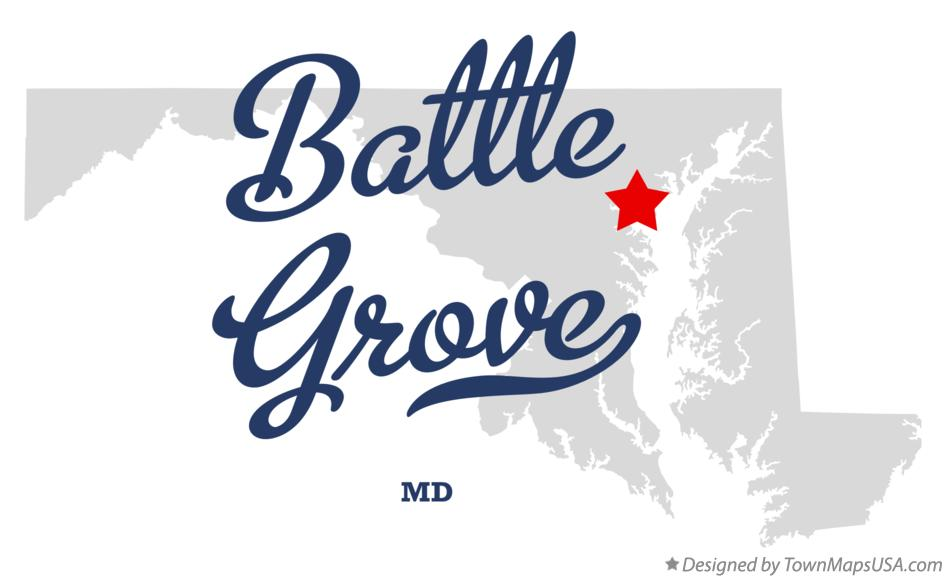 Map of Battle Grove Maryland MD