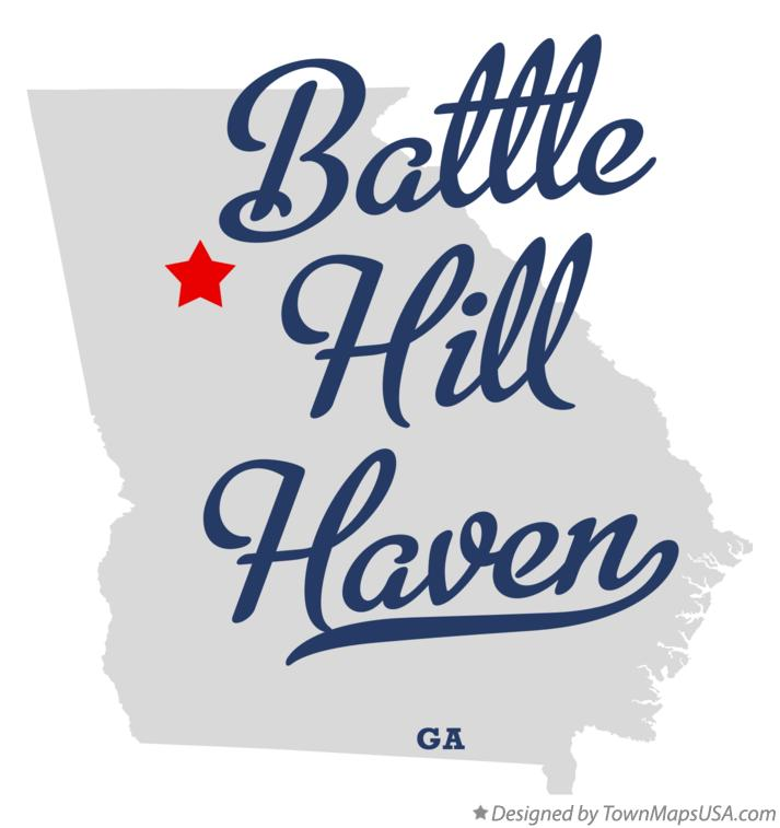 Map of Battle Hill Haven Georgia GA