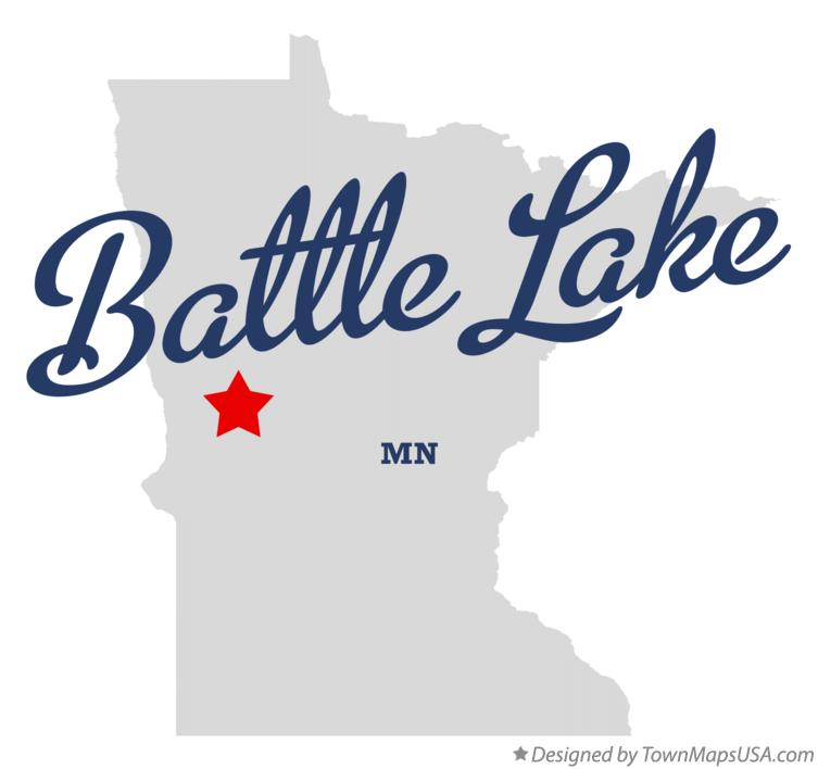 Map of Battle Lake Minnesota MN