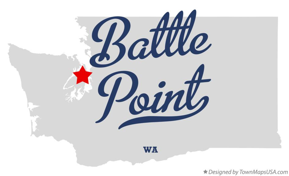 Map of Battle Point Washington WA