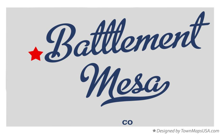 Map of Battlement Mesa Colorado CO