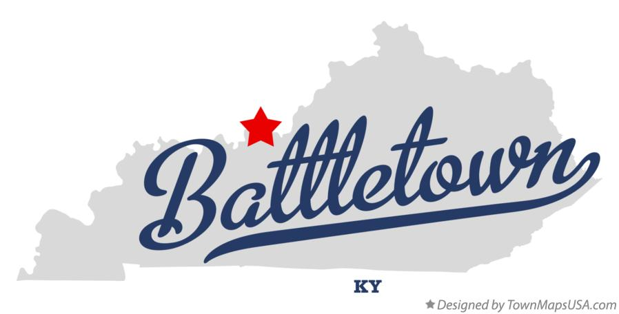 Map of Battletown Kentucky KY