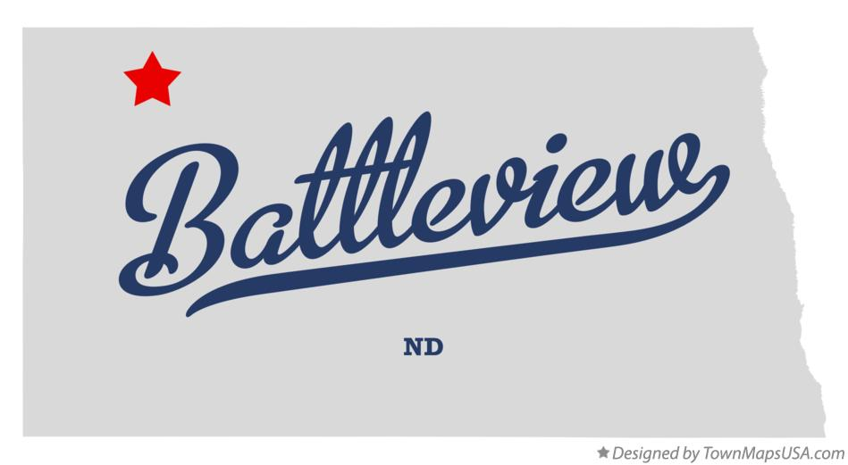 Map of Battleview North Dakota ND