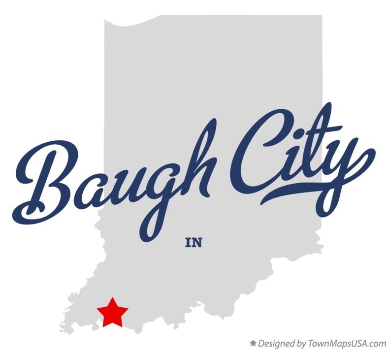 Map of Baugh City Indiana IN