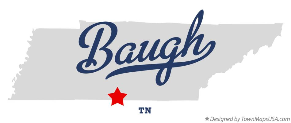 Map of Baugh Tennessee TN