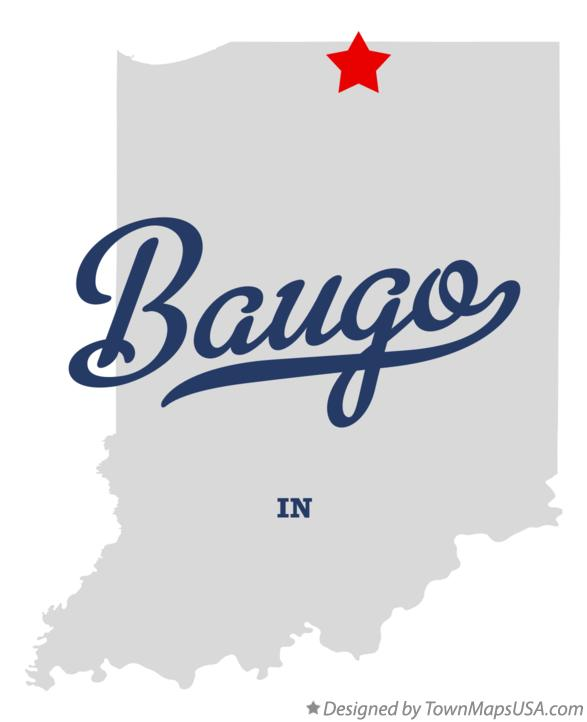 Map of Baugo Indiana IN