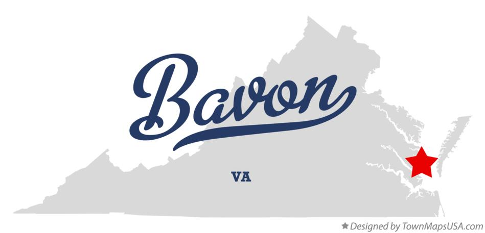 Map of Bavon Virginia VA