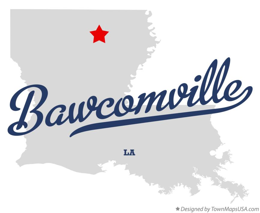 Map of Bawcomville Louisiana LA