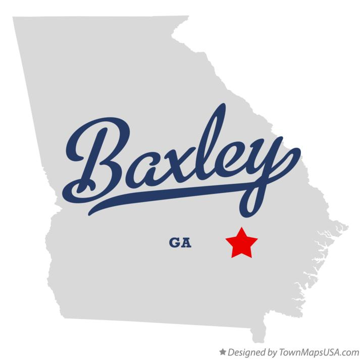 Map of Baxley Georgia GA