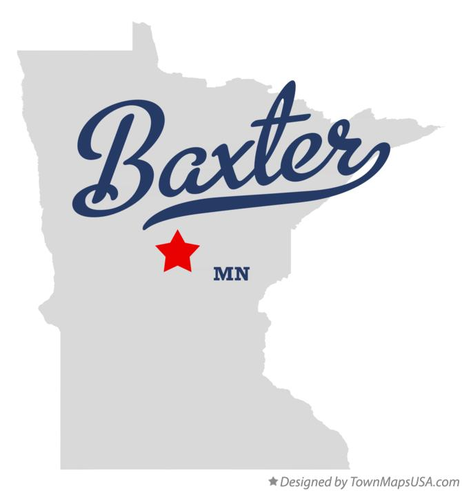 Map of Baxter Minnesota MN