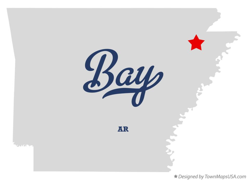 Map of Bay Arkansas AR