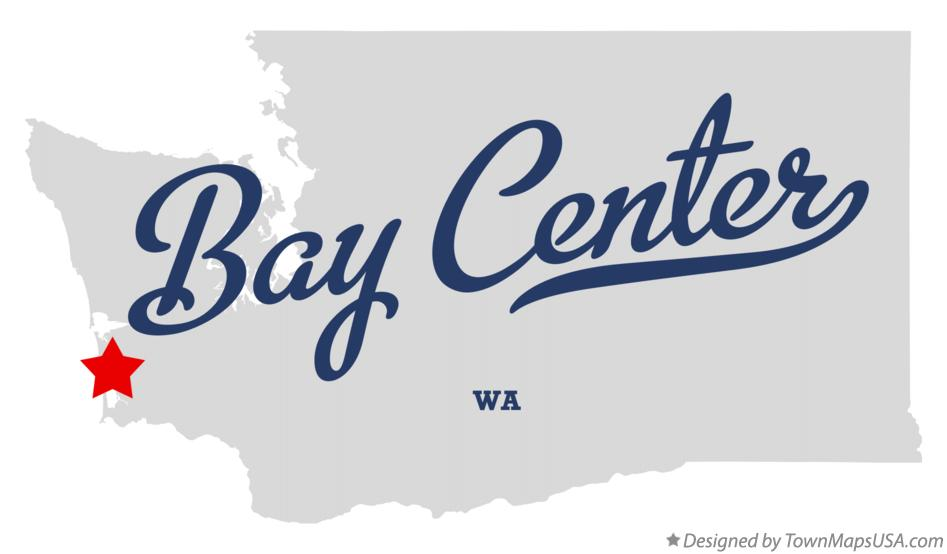Map of Bay Center Washington WA