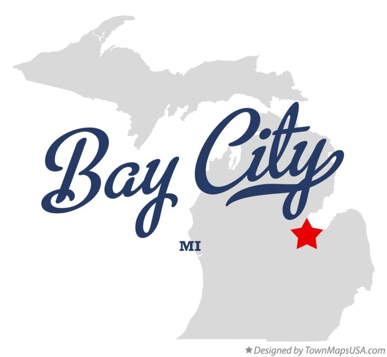Map of Bay City Michigan MI